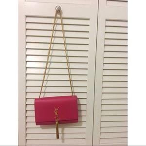 Kate Medium With Tassel In Smooth Leather Pink